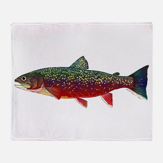 Brook Trout v2 Throw Blanket