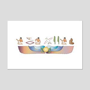 Maine Coon Hieroglyphs Mini Poster Print