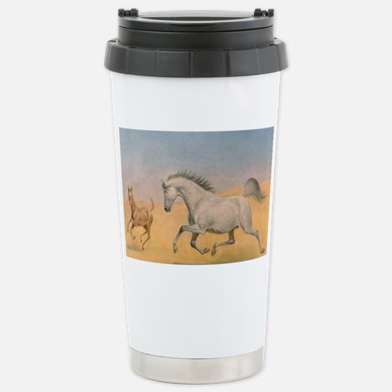 Arab Mare and Foal Stainless Steel Travel Mug