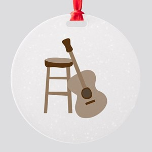 Guitar and Stool Ornament
