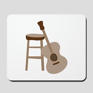 Guitar and Stool Mousepad