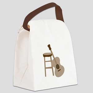 Guitar and Stool Canvas Lunch Bag