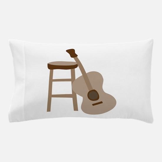 Guitar and Stool Pillow Case