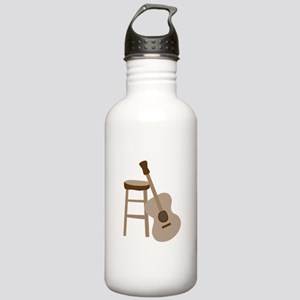 Guitar and Stool Water Bottle
