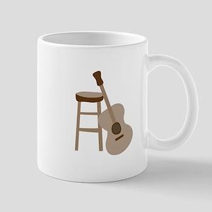 Guitar and Stool Mugs