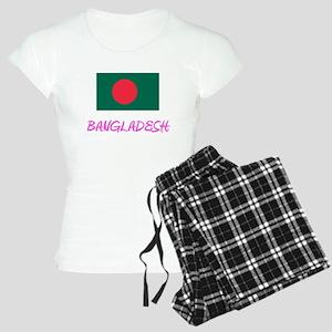 Bangladesh Flag Artistic Pink Design Pajamas