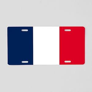 French Flag Aluminum License Plate