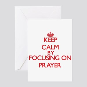 Keep Calm by focusing on Prayer Greeting Cards