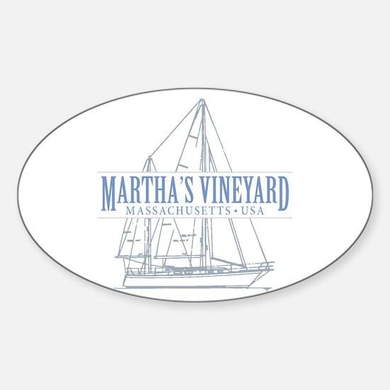 Martha's Vineyard - Sticker (Oval)