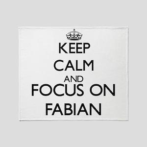 Keep Calm and Focus on Fabian Throw Blanket