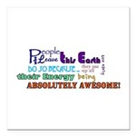 """Awesome Words Square Car Magnet 3"""" X 3"""""""