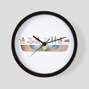Devon Hieroglyphs Wall Clock