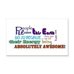 Awesome Words Rectangle Car Magnet