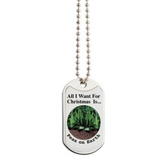 Xmas Peas on Earth Dog Tags