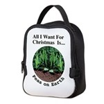 Xmas Peas on Earth Neoprene Lunch Bag
