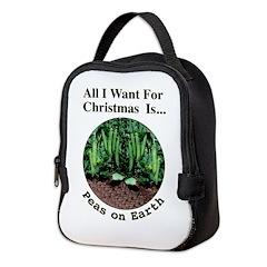 Xmas Peas on Earth Neoprene Lunch Bag