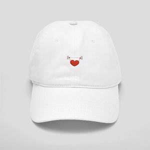 Weightlifting Heart Baseball Cap