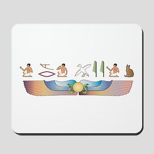 Shorthair Hieroglyphs Mousepad