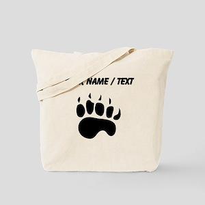 Bear Paw Silhouette (Custom) Tote Bag