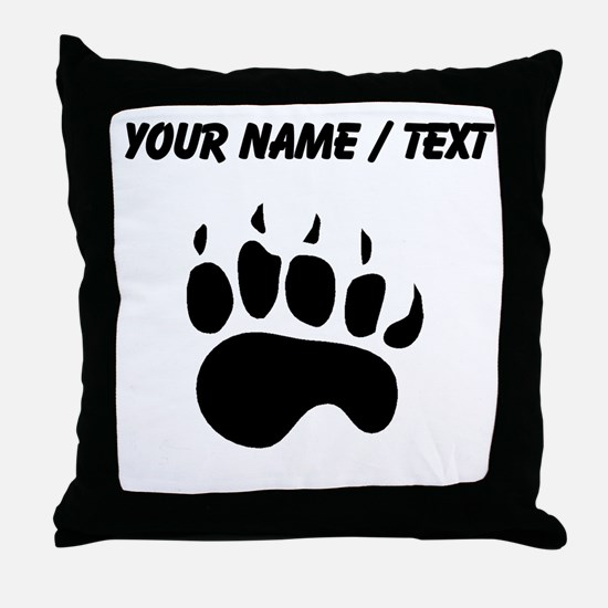 Bear Paw Silhouette (Custom) Throw Pillow