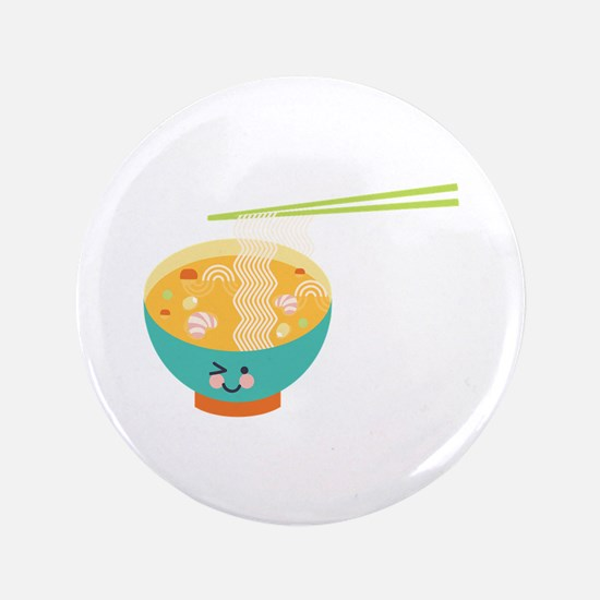 """Winking Bowl 3.5"""" Button"""