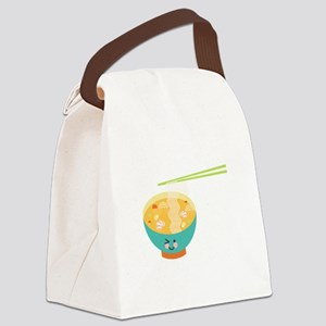 Winking Bowl Canvas Lunch Bag