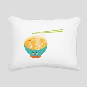 Winking Bowl Rectangular Canvas Pillow