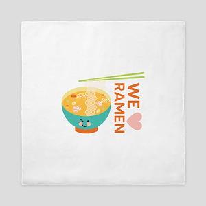 We Love Ramen Queen Duvet