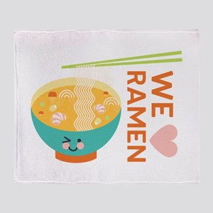 We Love Ramen Throw Blanket