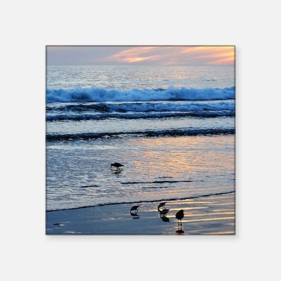 "Malibu Sunset Square Sticker 3"" x 3"""
