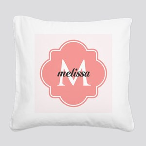 Light Pink Custom Personalize Square Canvas Pillow