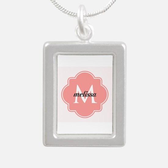 Light Pink Custom Person Silver Portrait Necklace