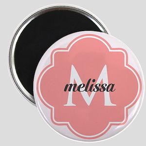 Light Pink Custom Personalized Monogram Magnet