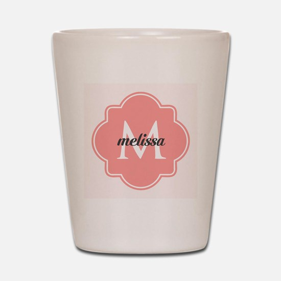 Light Pink Custom Personalized Monogram Shot Glass