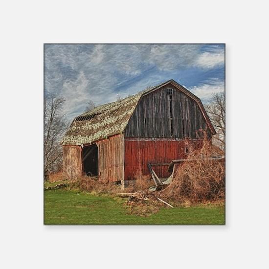 """Old Barn 1 Square Sticker 3"""" x 3"""""""