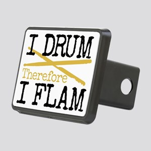 I Drum Therefore I Flam Rectangular Hitch Cover