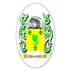Hinchliff Sticker (Oval 50 pk)