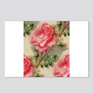 Pretty Pink Roses Postcards (Package of 8)