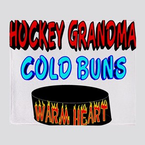 HOCKEY GRANDMA Throw Blanket