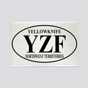 Yellowknife Rectangle Magnet