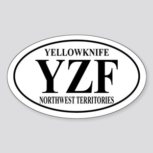 Yellowknife Oval Sticker