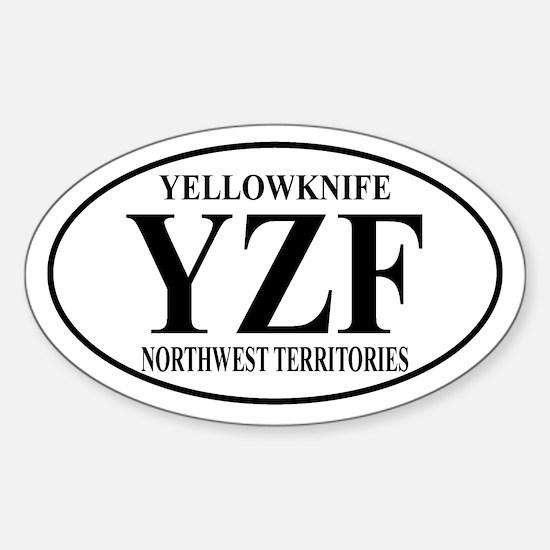 Yellowknife Oval Decal