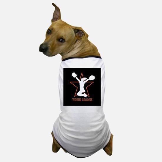 Orange Cheerleader Dog T-Shirt