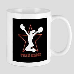 Orange Cheerleader Mugs