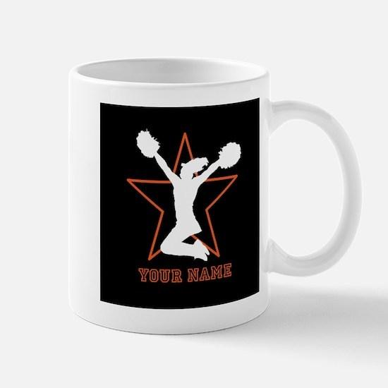 Orange Cheerleader Mugs