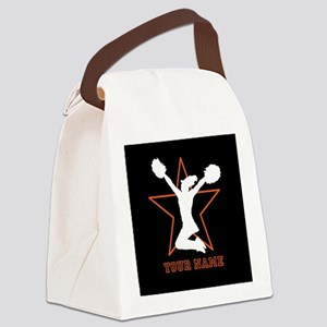 Orange Cheerleader Canvas Lunch Bag