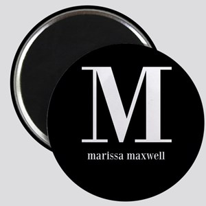 Black and White Monogram Name Magnet