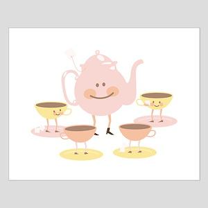 Happy Tea Set Posters