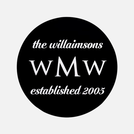 "Black and White Custom Mono 3.5"" Button (100 pack)"