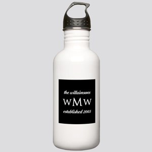 Black and White Custom Stainless Water Bottle 1.0L